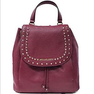 Michael Kors Riley LG Backpack Leather Mulberry